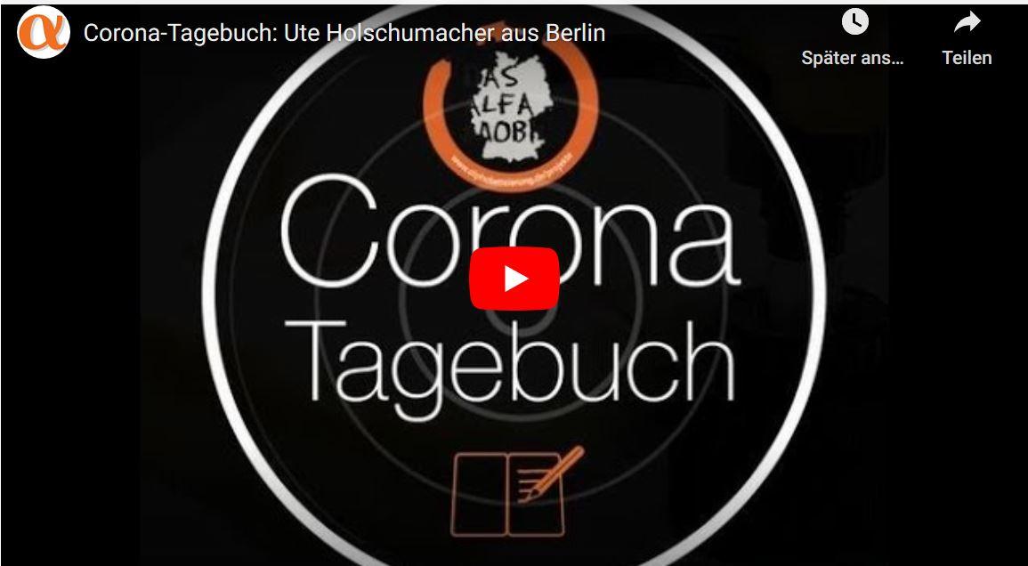 """Lern-Botschafter im ALFA-Mobil Interview in der Videoreihe """"Corona-Tagebuch"""""""