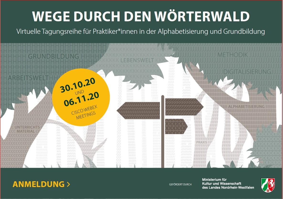 """""""Wege durch den Wörterwald"""" – virtuelle Tagungsreihe für Praktiker*innen am 30.10. und 6.11."""