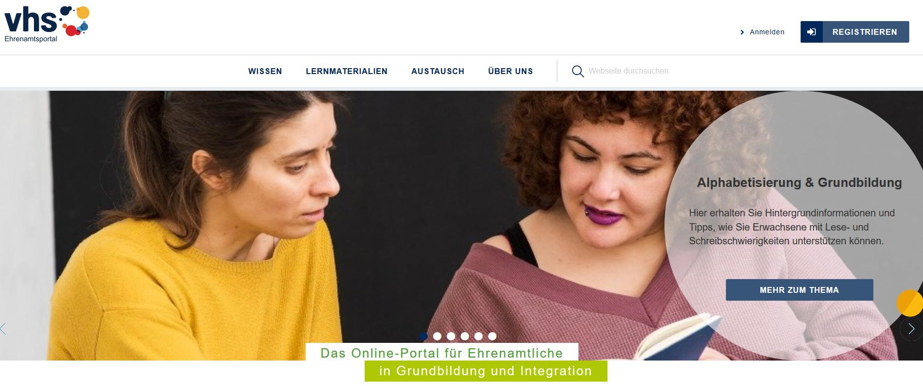 vhs-Ehrenamtsportal: neuer Look und neue Inhalte